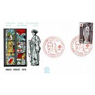 FDC N° 996 - Croix-Rouge (1911) - Sculptures De L'Eglise De Brou - 20/11/1976 - 1970-1979