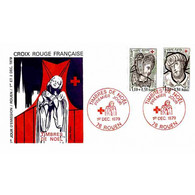 FDC - Croix-Rouge 79 - Vitraux De Rouen - 1/12/1979 Rouen - 1970-1979