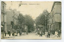 08 CHARLEVILLE Avenue De La Gare   Jolie  Animation TRamway 1908 Timb      /D08-2017 - Charleville