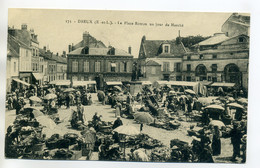 28 DREUX  Un Jour De Marché Place Rotrou Marchandes De Legumes 1910    /D08-2017 - Dreux