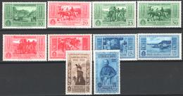 Colonie Em.Generali 1932 Sass.1/10 */MH VF/F - Algemene Uitgaven