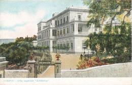 Grece Corfou Villa Imperiale Archilleion Cpa Carte Colorisée - Grecia