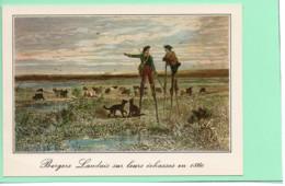 40----LA LANDE--Les Bergers Landais Sur Leurs échasses --( Reproduction D'une Gravure Landaises De 1860 )---voir 2 Scans - Unclassified