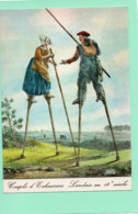 40----LA LANDE--Un Couple D échassiers Landais Dans La Forêt --( Reproduction D'une Gravure 18è Siècle )---voir 2 Scans - Unclassified
