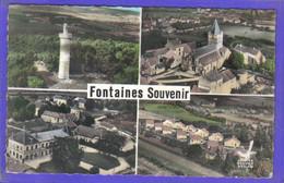 Carte Postale 71. Fontaines  Vue D'avion    Très Beau Plan - Altri Comuni