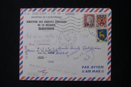 REUNION - Oblitération De Tampon Sur Enveloppe De La Direction Des Services Agricoles Pour La France En 1965 - L 88564 - Storia Postale