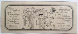 PUB 1914 TELEPHONE L ENROULEUR BARON AUTORISE SUR TOUS LES RESEAUX DE L ETAT RUE SAINTE ANNE PARIS - Telephony