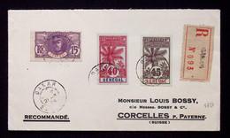 Lettre Recommandée Sénégal N°35 + 40 + 41 OBL Dakar Pour La Suisse Avec Arrivée. TB - Storia Postale