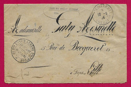 """Enveloppe Datée De 1924 - Troupes D'Occupation Au Maroc - Ouazzane - Oblitération """"Poste Aux Armées"""" - Cartas"""