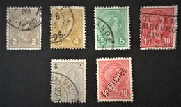 1895 Grossherzog Adolf Mi. 68, 69, 70, 71, Dienstmarken 57, 66 - 1895 Adolphe Profil