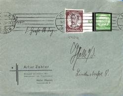 Allemagne Reich 1934  Lettre De Halle  (G0973) - Storia Postale