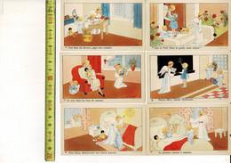 Kl G 805 - J. Gouppy - Fille Avec Ange Gardien - Verso Blanco - Meisje Met Engelbewaarder - 12 Cromo S - Devotion Images