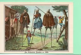 40----LA LANDE--Les échassiers Landais Partant Garder Leurs ...--( Reproduction D'une Gravure De 1800 )---voir 2 Scans - Unclassified
