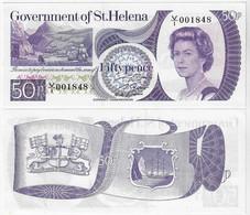 Banknote Saint Helena Island 50 Pence 1979 Pick-5 Queen Elizabeth II Uncirculated - Saint Helena Island