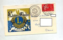 Lettre Cachet Nice Convention Lions Club + Flamme Poitiers - Commemorative Postmarks