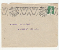 Banque Commerciale De Bale Company Letter Cover Posted 1913 B210210 - Lettres & Documents