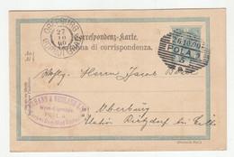 Austria Italian Postal Stationery Postcard Posted 1900 Johann & Nicolaus Ziz Wein-Eigenbau Pola To Gornji Grad B210210 - Kroatien