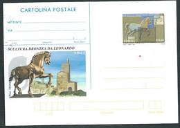 Italia 2001 ; Scultura Bronzea Di Leonardo : Cavallo, Horse, Intero Postale Nuovo, Postal Stationery. - Stamped Stationery