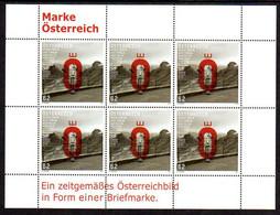 AUSTRIA 2011 Stamp Design Winner Sheetlet Of 6 MNH / **  Michel 2962 Kb - Blokken & Velletjes