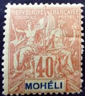 Moheli 1906 Yvert 10 * MH - Neufs