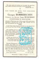 DP Schoolmeester - Georges Robberechts ° Wolvertem Meise 1899 † Brussel 1938 X Laure Musschoot - Devotion Images