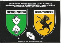CPSM -- Blason - Autocollant- Suisse - Schweiz - Shaffhausen - Shaffhouse - Beggingen - SH Schaffhouse
