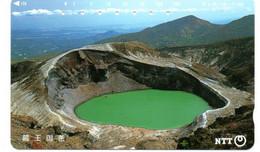 Volcan Volcano Cratère Montagne Mountain Télécarte Phonecard Japon (T 97) - Montagne