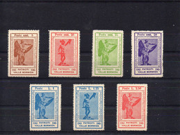 ##(DAN2102)- ITALIA  1945 CLN -Patrioti Valle Bormida Local Issue , Cpl Set 7 Vals, Mint No Gum As Issued - Comité De Libération Nationale (CLN)