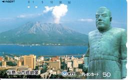 Volcan Volcano Cratère Montagne Mountain Télécarte Phonecard Japon (T 99) - Montagne