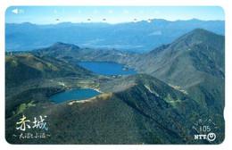 Volcan Volcano Cratère Montagne Mountain Télécarte Phonecard Japon (T 100) - Montagne