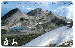 Volcan Volcano Cratère Montagne Mountain Télécarte Phonecard Japon (T 101) - Montagne