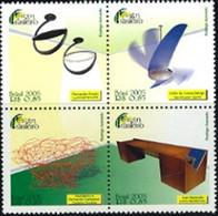 BRAZIL #3455-58 - BRAZILIAN FASHION DESIGN   4 VALUES - 2005 - MINT - Neufs