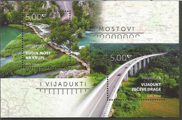 HR 2021-1499-500 BRIDGES, HRVATSKA CROATIA, S/S, MNH - Croacia