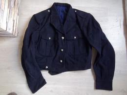 Blouson De Drap Ml 1946 Et Taille 46 Bleu Chasseur Alpins (avec Passant Pour Maintenir Le Pantalon) - Uniforms