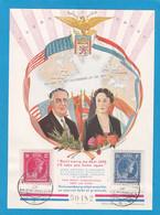 FEUILLET SOUVENIR PRESIDENT ROOSEVELT,GRANDE-DUCHESSE CHARLOTTE, 10.9.45. - Covers & Documents