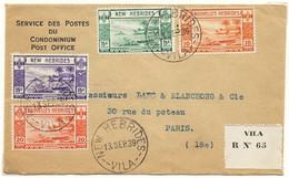 1939-64 NOUVELLES HEBRIDES 3 LETTRES RECOMMANDEES AVEC ETIQUETTES DE RECOMMANDATION DIFFERENTES - Covers & Documents