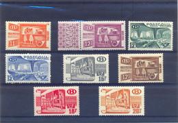 Nrs. TR322/TR329 Postgaaf ** MNH 100 Côte PRACHTIG - 1942-1951