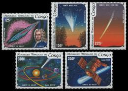 Kongo-Brazzaville 1986 - Mi-Nr. 1024-1028 ** - MNH - Raumfahrt / Space - Ongebruikt