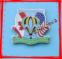 Pin's Montgolfière, Championnat Nord Américain 1988, SAINT JEAN RICHELIEU, QUEBEC, CANADA - Mongolfiere