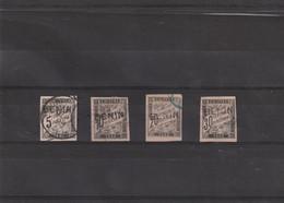 TIMBRES TAXE De 1884 BENIN  En Surcharge  N° 1  à 4 Oblitéré - Oblitérés