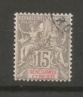 Timbre Colonie Française Sénégambie Et Niger  Oblitéré N 6 - Used Stamps