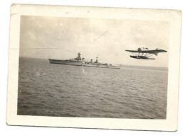 PHOTOGRAPHIE  BATEAU AVION THE MONTCALM TO ROSYTH ECOSSE  JUIN 1939 - Luftfahrt