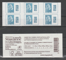 "FRANCE / 2018 / Y&T N° AA 1603A ** X 6 : Marianne D'YZ TVP Europe (Carnet Adhésif  ""Nouvelle Marianne"") X 1 (n° à G) - Usage Courant"