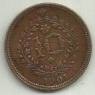 10 Réis 1901 D. Carlos I Portugal/Açores - Azores
