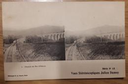 Carte Postale Vues Stéréoscopiques Chemin De Fer D'Oléron Julien Damoy Série N°13 - Stereoscopische Kaarten
