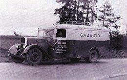 Camion Fourgon Rochet-Schneider  -  Gazogène 'Le Gazauto' En 1935   -  15x10cms  PHOTO - Trucks, Vans &  Lorries