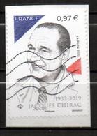 France Oblitéré Used 2020 Jacques Chirac  Cachet Vague - Usati