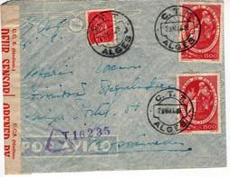 From Algés Portugal  To  Mossâmedes Angola , Censure , Censor ,   South Africa Censor Label - WW2 (II Guerra Mundial)