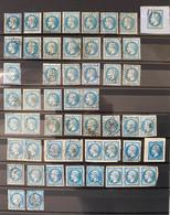 Lot Timbres Napoléon Lauré N°29 Essentiellement Avec Qq N°22 Et Cérès N°60 Planchage - 1863-1870 Napoleon III With Laurels