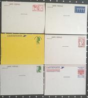 Six Entiers Postaux Neufs - Lots Et Collections : Entiers Et PAP